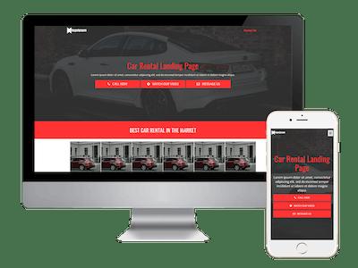 Landing - Car Rental Landing Page