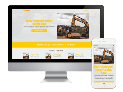 Landing - Heavy Equipment Supply Landing Page