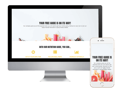 Thank You - Health & Fitness Freebie Thank You Page