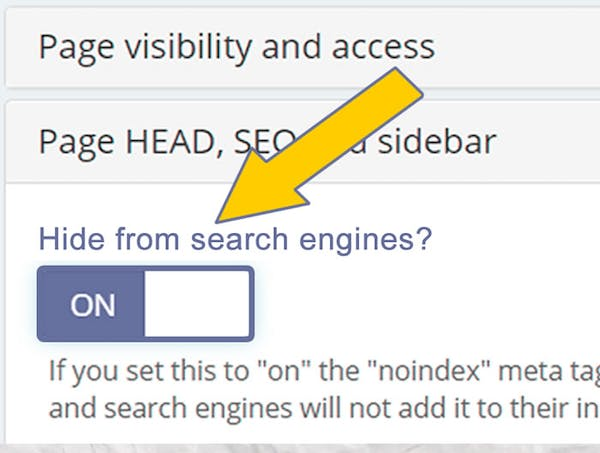 Search Indexing Enabling