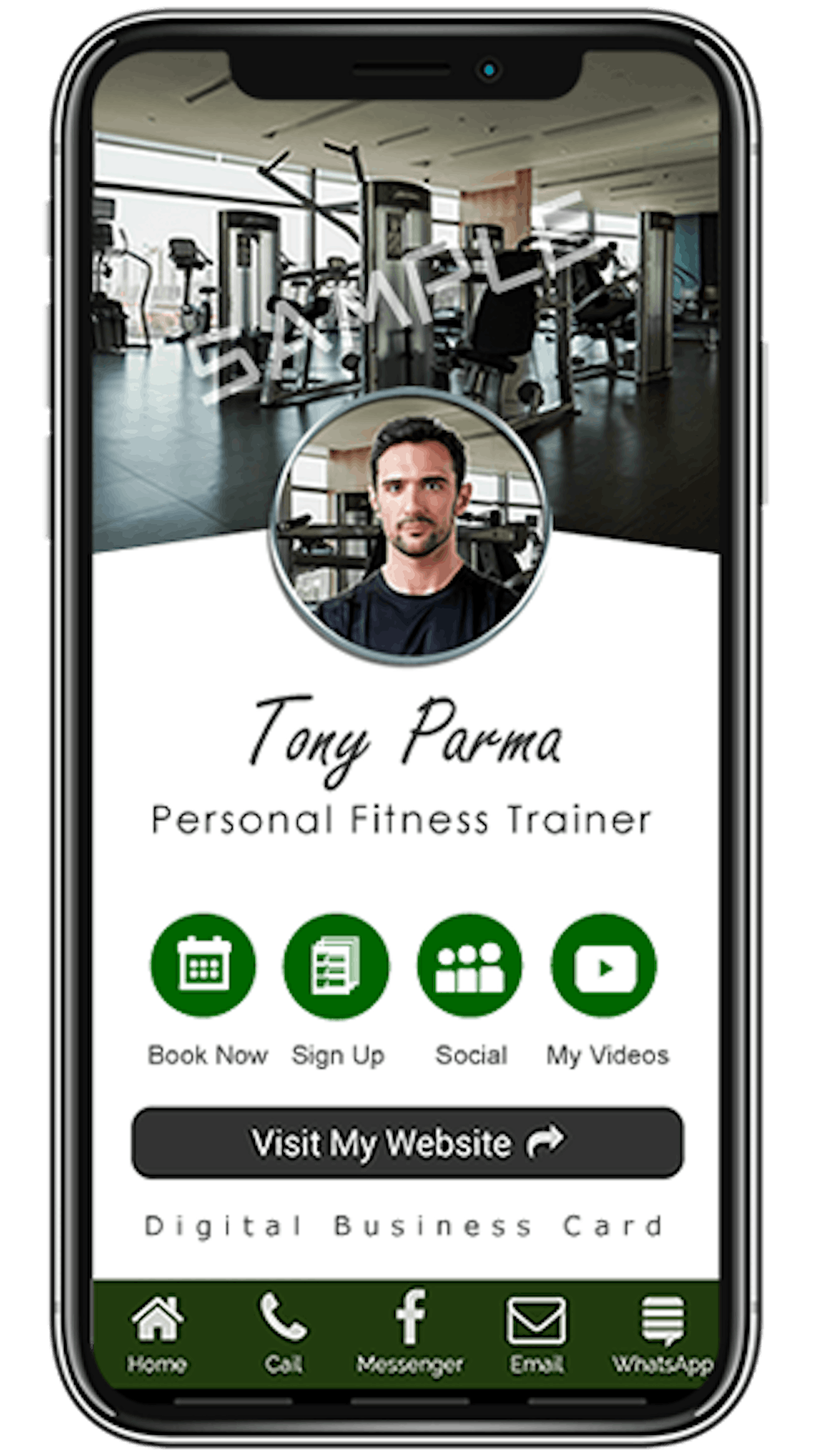 Business Card for Personal Trainers