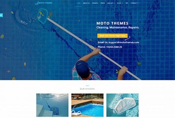 SWIMING POOL CLEANING TEMPLATE