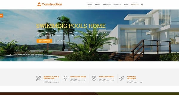 Building and Construction Wordpress Theme