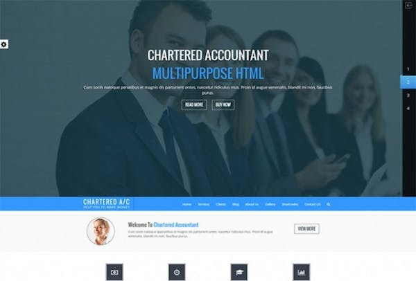 Charted Accountant HTML Template