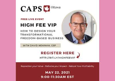 FREE Online Events: HIGH FEE VIP - How to Design Your Transformational FreedomBased Business