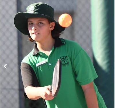 Students take to the pickleball courts