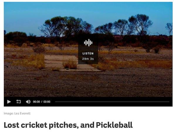 "ABC Radio National program ""Sporty"" features Pickleball"