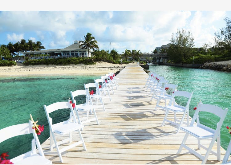 beach wedding at Blue Lagoon Beach Sandyport Cable Beach