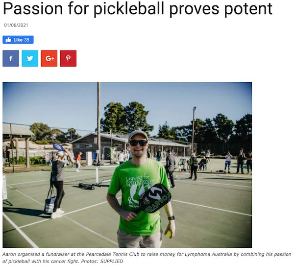Passion for Pickleball proves potent