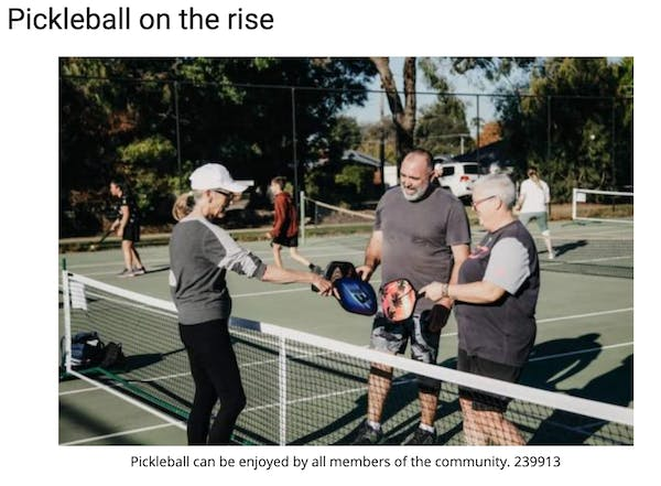 Pickleball on the rise