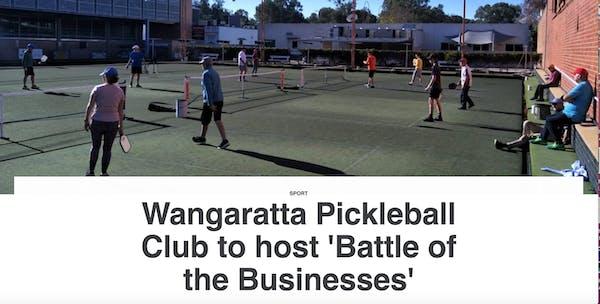 Wangaratta Pickleball Club to host 'Battle of the Businesses'