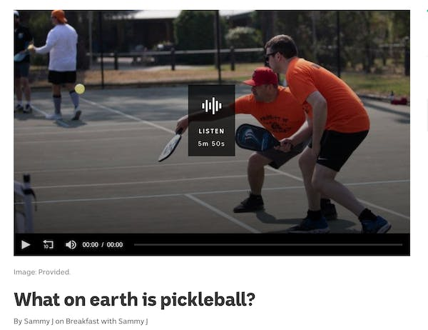 What on earth is pickleball?