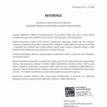 Mens Sana Ostrava | Cvičení se zaměstnanci