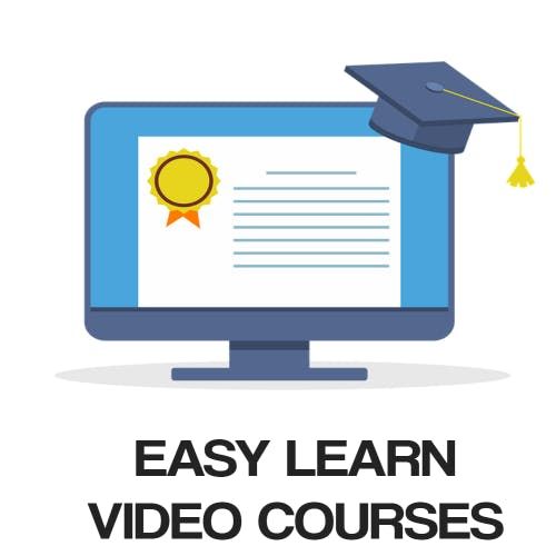 Easy Learn Video Courses Logo Images