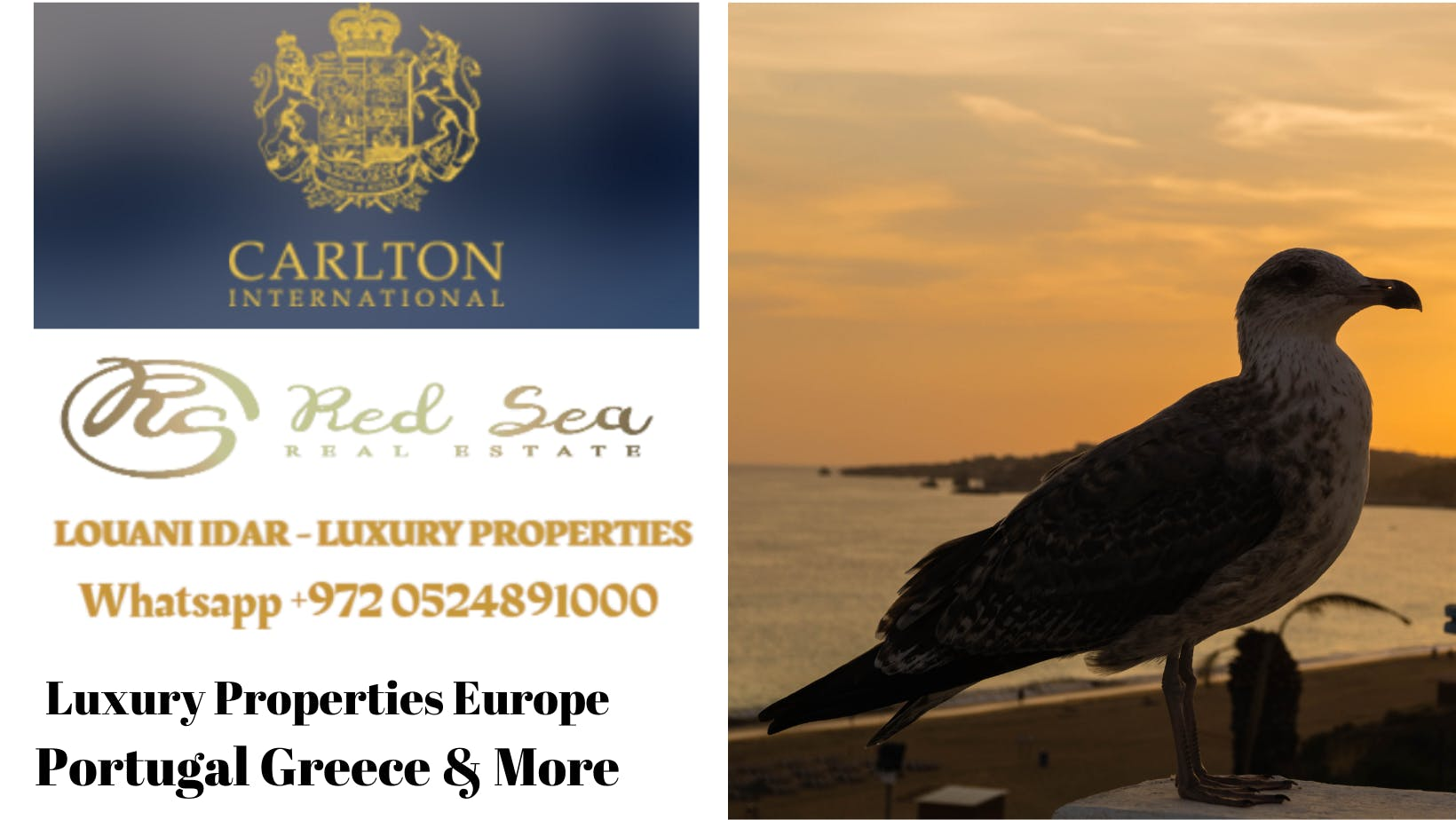 Luxury Real Estate For Sale Portugal-Greece-Europe